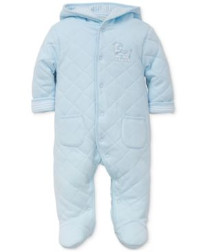 Little Me Quilted Hooded Footed Pram Coverall, Baby Boys (0-24 months) 4547081
