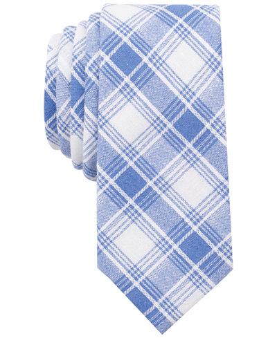 Bar III Men's Palmyra Plaid Slim Tie, Created for Macy's