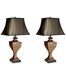 Safavieh Set of 2 Sahara Safari Table Lamps