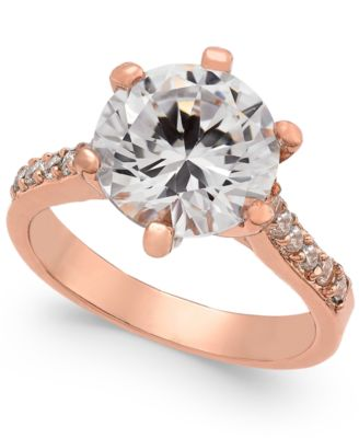 Image of Charter Club Rose Gold-Tone Cubic Zirconia Ring, Created for Macy's