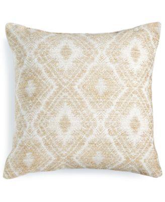 """Beige Chenille 18"""" Square Decorative Pillow"""