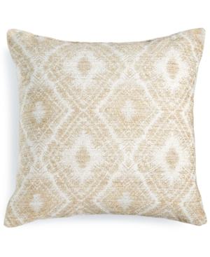 Hallmart Collectibles Beige Chenille 18 Square Decorative Pillow Bedding
