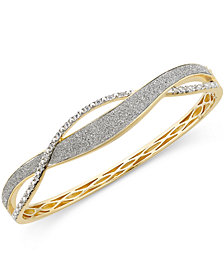 Diamond Glitter Twist  Bracelet (1/4 ct. t.w.) in 18k Gold-Plated Sterling Silver