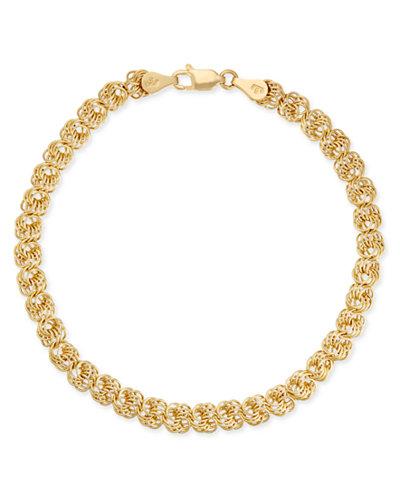 Interlink Chain Bracelet In 14k Gold Macy S