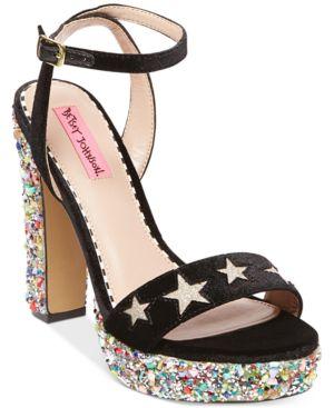 Betsey Johnson Kenna Platform Block-Heel Sandals Women