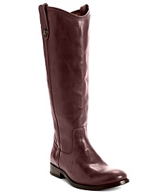 Women's Melissa Wide Calf Riding Leather Boots