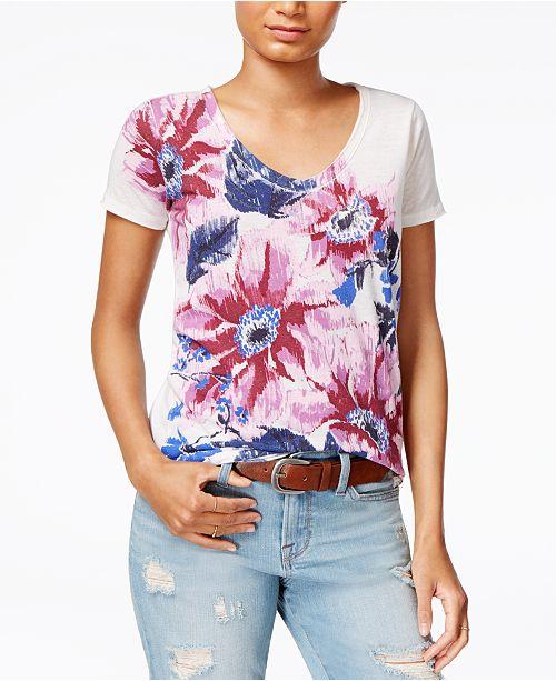 8d299413f63 Lucky Brand Floral-Print T-Shirt & Reviews - Tops - Women - Macy's