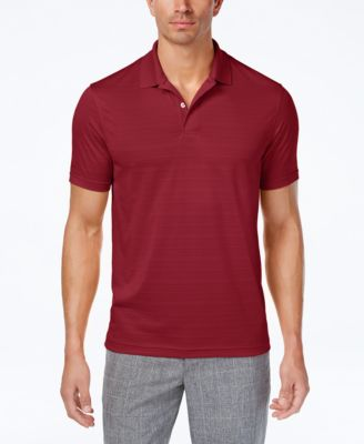 Image of Club Room Men's Textured-Stripe Performance Polo, Only at Macy's