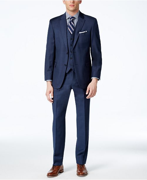 821d4be4f14e Tommy Hilfiger Sharkskin Modern-Fit Suit Separates - Suits   Tuxedos ...