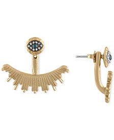 RACHEL Rachel Roy Gold-Tone Pavé Eye Ear Jacket Earrings