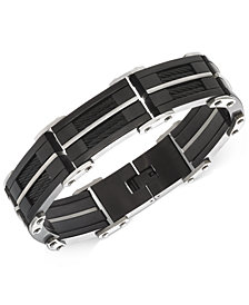 Sutton by Rhona Sutton Men's Stainless Steel Large Link Bracelet