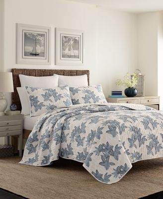 tommy bahama home villa verona cotton reversible quilt collection