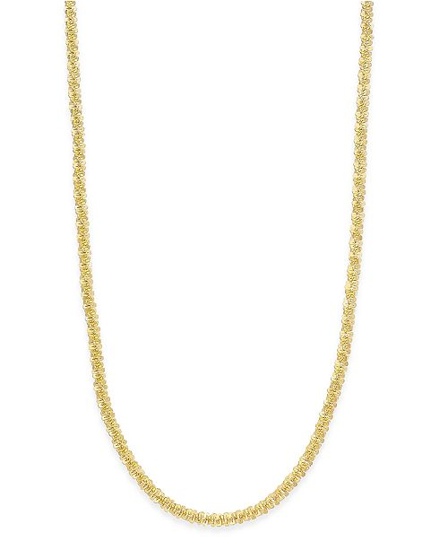 """Giani Bernini 20"""" Sparkle Link Chain Necklace in Sterling Silver, Created for Macy's"""