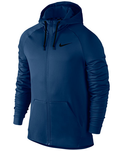 nike men 39 s full zip therma hoodie hoodies sweatshirts. Black Bedroom Furniture Sets. Home Design Ideas