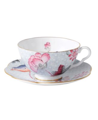 Blue Cuckoo Teacup and Saucer