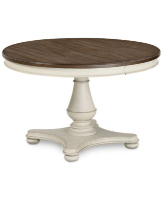 Barclay Expandable Round Dining Pedestal Table Furniture Macys