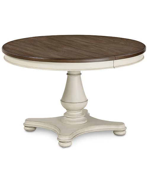 furniture barclay expandable round dining pedestal table reviews furniture macy 39 s. Black Bedroom Furniture Sets. Home Design Ideas