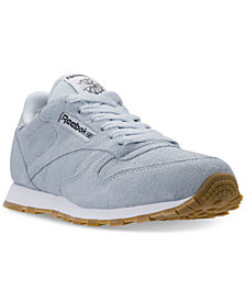Reebok Big Girls' Classic Leather Casual Sneakers from Finish Line