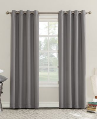 """CLOSEOUT! Eunice 50"""" x 63"""" Room Darkening Triple-Lined Grommet Curtain Panel"""
