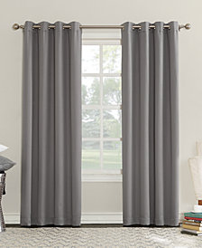 "CLOSEOUT! Sun Zero Eunice 50"" x 63"" Room Darkening Triple-Lined Grommet Curtain Panel"