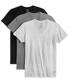 Polo Ralph Lauren Men's 3-Pk. Cotton Classic V-Neck T-Shirts