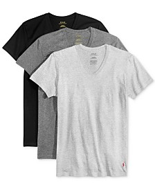 Polo Ralph Lauren Men's Undershirt, Slim Fit Classic Cotton V-Neck 3 Pack