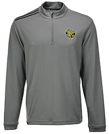adidas Men's Columbus Crew SC 3-Stripe Quarter-Zip Pullover