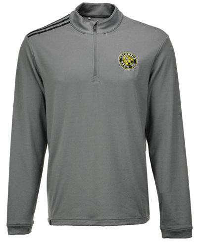 adidas Men's Columbus Crew SC 3-Stripe Quarter-Zip Pullover