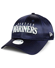 New Era Women's Seattle Mariners Satin Team Charmer 9FORTY Strapback Cap