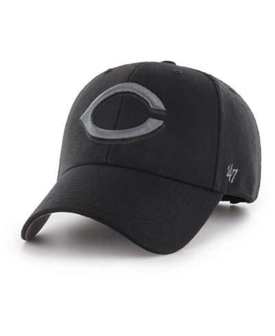 '47 Brand Cincinnati Reds MVP Black and Charcoal Cap