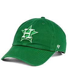 '47 Brand Houston Astros Kelly White CLEAN UP Cap