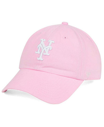 '47 Brand New York Mets Pink/White CLEAN UP Cap