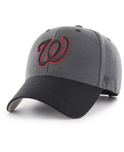 '47 Brand Washington Nationals 2Tone Charcoal/Black Pop MVP Cap