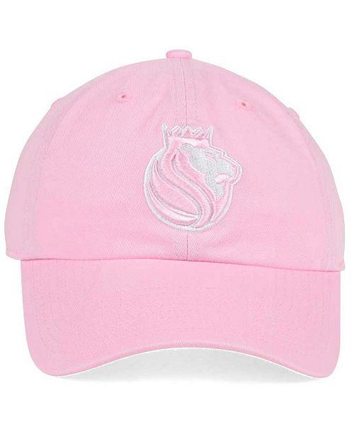 the best attitude c9fa6 03dc1 ... new zealand 47 brand womens sacramento kings petal pink clean up cap  sports fan shop by