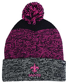 '47 Brand New Orleans Saints Static Cuff Pom Knit Hat