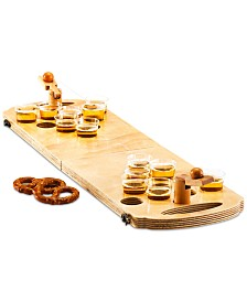 Studio Mercantile 24-Pc. Mini Wood Beer Pong Game, Created for Macy's