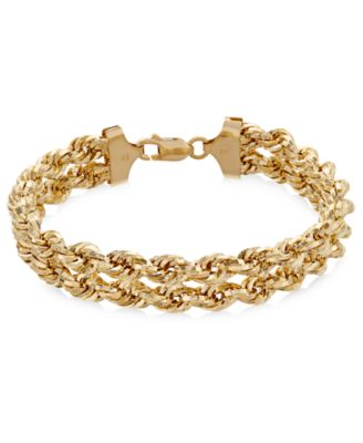 Chain Double Rope Bracelet in 14k Gold Bracelets Jewelry