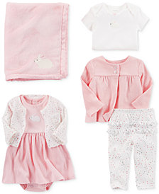 Carter's Bunny Plush Blanket & Clothing Sets, Baby Girls