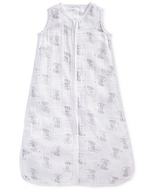 Baby Boys & Girls Elephant-Print Cotton Sleeping Bag