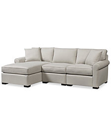 Astra 3-Pc. Fabric Sectional with Chaise, Created for Macy's