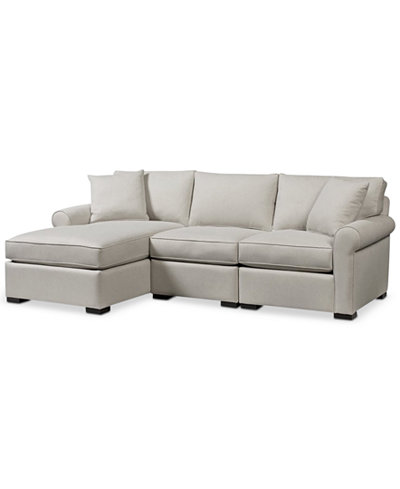Astra 3-Pc. Sectional with Chaise, Created for Macy's