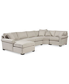 Astra 4-Pc. Fabric Sectional with Chaise, Created for Macy's