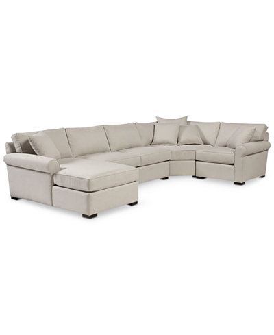 Astra 4-Pc. Sectional with Chaise, Created for Macy's