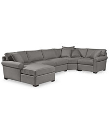 Astra 4-Pc. Fabric Sectional with Chaise - Custom Colors, Created for Macy's
