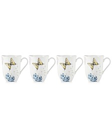 Butterfly Meadow Hydrangea Collection 4-Pc. Mug Set