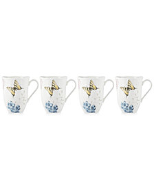 Lenox Butterfly Meadow Hydrangea Collection 4-Pc. Mug Set
