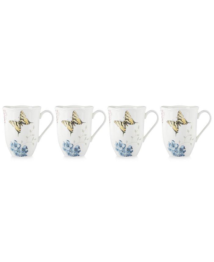 Lenox - Butterfly Meadow Hydrangea Collection 4-Pc. Mug Set