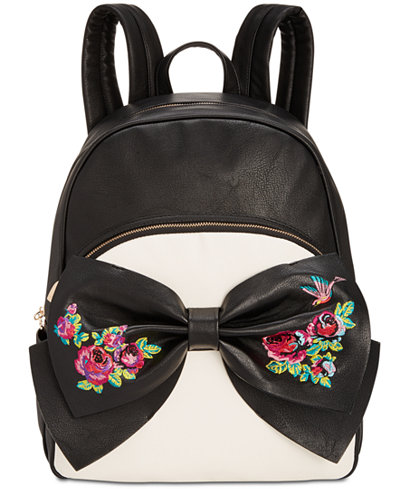 Betsey Johnson Medium Bow Backpack, a Macy's Exclusive Style