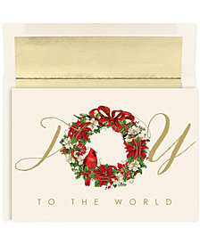 Masterpiece Cardinal Wreath  Set of 18 Boxed Greeting Cards With Envelopes