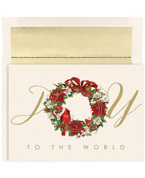 Masterpiece cards masterpiece cardinal wreath set of 18 boxed main image m4hsunfo